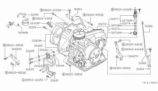 31020-11x74 | genuine nissan #31020-11x74 transaxle auto  nissan parts