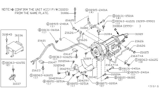 1992 Nissan 300zx Auto Transmission Transaxle Fitting