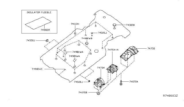 2014 Nissan Pathfinder Base Floor Fitting Nissan Parts Deal
