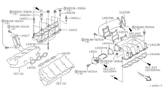 Manifold - 2003 Nissan Maxima | 2003 Maxima Se Engine Diagram |  | Nissan Parts Deal