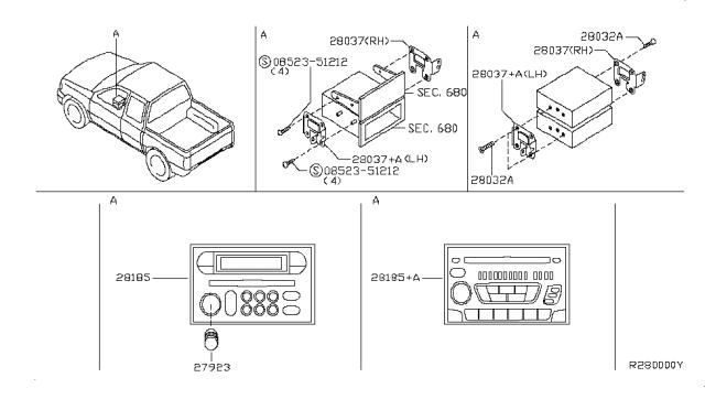 Audio & Visual - 2001 Nissan FrontierNissanPartsDeal.com - Genuine Nissan Parts