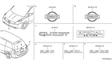Related Parts for Nissan Quest Emblem - 65890-5Z000