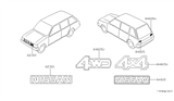 Related Parts for Nissan Van Emblem - 84890-41L00