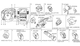 Related Parts for Nissan Headlight Switch - 25560-ZP53A