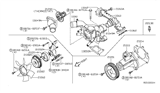 Diagram for Nissan Water Pump Gasket - 21049-AE000