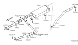 Diagram for Nissan Exhaust Pipe - 20050-ZL10A
