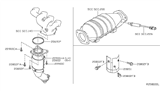 Diagram for Nissan Catalytic Converter - 208A1-8J400