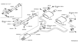 Diagram for Nissan Exhaust Pipe - 20020-3Z800