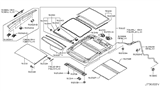 Diagram for Nissan Sunroof - 91602-1AA1A