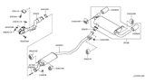 Diagram for Nissan Exhaust Pipe - 20020-1AA2A