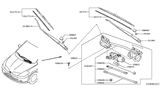 Related Parts for Nissan Versa Wiper Arm - 28881-ZN90A