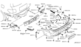 Diagram for Nissan Armada Bumper - 85022-5ZW0H
