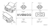 Related Parts for Nissan NV Emblem - 90897-1PA0A