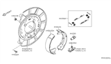 Related Parts for Nissan NV Brake Shoe Set - 44060-1PA0B