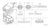 Related Parts for Nissan Xterra Emblem - 62890-EA000