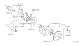 Diagram for Nissan Steering Knuckle - 40014-4M400