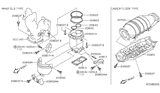 Diagram for Nissan Catalytic Converter - 208A0-5M025