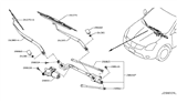 Related Parts for Nissan Rogue Wiper Arm - 28881-JM00A