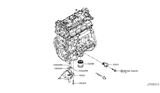 Diagram for Nissan Oil Filter - 15208-65F0A