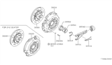 Related Parts for Nissan 280ZX Clutch Disc - 30100-F5500