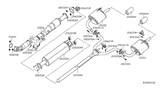 Diagram for Nissan Exhaust Pipe - 20010-JA000