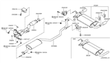 Diagram for Nissan Exhaust Pipe - 20020-CB000
