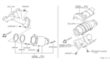Diagram for Nissan Catalytic Converter - B08A0-5W500