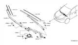 Related Parts for Nissan Murano Wiper Pivot - 28800-5AA0A