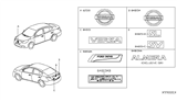 Related Parts for Nissan Emblem - 62889-1JB0A