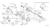 Diagram for Nissan Steering Knuckle - 40015-01G50