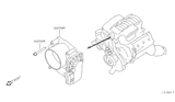 Diagram for Nissan Frontier Throttle Body - 16119-7S00C