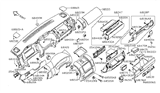 Related Parts for Nissan Glove Box - 68500-ZP00C