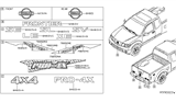 Related Parts for Nissan Emblem - 62890-EA500