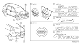 Related Parts for Nissan Emblem - 62889-1JA0A