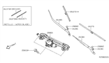 Related Parts for Nissan Altima Wiper Arm - 28881-3TA1C