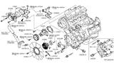 Diagram for Nissan Water Pump Gasket - 21014-7S000