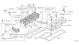 Diagram for Nissan Valve Cover Gasket - 13270-1E411