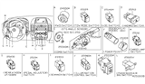 Related Parts for Nissan Headlight Switch - 25540-ET11A
