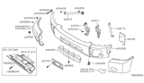 Diagram for Nissan Armada Bumper - 62022-7S201
