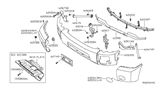 Diagram for Nissan Armada Bumper - 62024-7S220