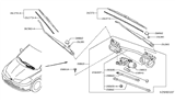 Related Parts for Nissan Versa Wiper Arm - 28886-EM30A