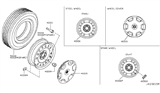 Diagram for Nissan Cube Spare Wheel - 40300-1FE0A