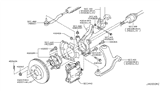 Diagram for Nissan Steering Knuckle - 40015-ED000