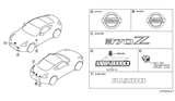 Related Parts for Nissan Emblem - 62890-CD000