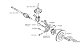 Diagram for Nissan Steering Knuckle - 40014-1KA1A