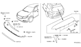 Related Parts for Nissan Air Deflector - 96015-3KA0A