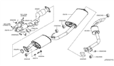 Related Parts for Nissan Quest Exhaust Pipe - 200A0-4AY0A