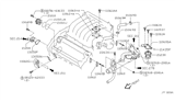 Diagram for Nissan Water Pump Gasket - 21049-31U01