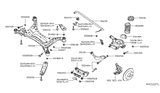 Related Parts for Nissan Maxima Rear Crossmember - 55400-4RA2A