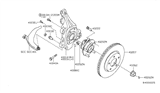 Diagram for Nissan Steering Knuckle - 40014-JA00A